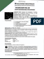 Msds Desengrasante Biodegradable Ng-20 0604791