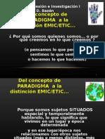 Paradigmas ETIC EMIC 2014