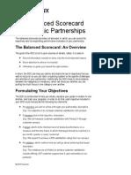 Balanced Scorecard for Partnerships (Sample Included)