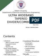 Ultra Wideband Divider