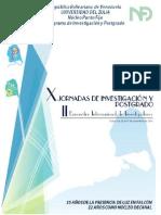 Concepto x Jornadas de Inv Estigaciön y Postgrado.