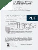Comunicado Comité Autonómico Tragsa UT 2 Comunitat Valenciana 16-03-2015