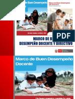 PPT Marcos de Buen Desempeño Docente y Directivo