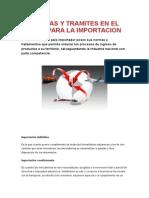 Normas y Tramites en El Peru Para La Importacion