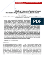 Knowledge and Attitude of Male Dental Students Toward HIV AIDS in King Khalid University Saudi Arabia (2)