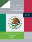 programa sectorial de Comunicaciones y Transportes 2007-2012