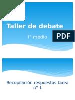 Temas taller debate I°C