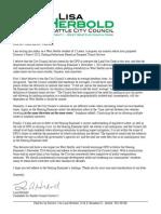 Herbold letter on Director's Rule 6-2015