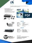 SHIELD SECURITY - MERIVA MBAS221 - DVR MBASIC20 4CH + 4 CAMARAS BULLET  800TVL MBAS204 + ACCESORIOS