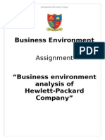 Business Environment of Hewlett Packard (HP) Company
