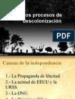 los procesos de descolonizacion