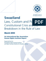 Breakdown of Law and Order Swaziland - IBA