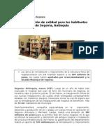 Comunicado Salud- Atención de Calidad Para Los Habitantes de Segovia, Antioquia
