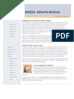 Modelo Boletín Electrónico
