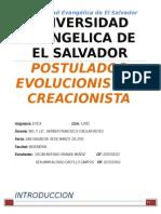 postulados creacionista