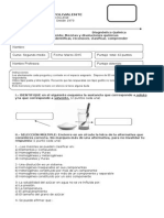Diaganóstico Química segundo medio