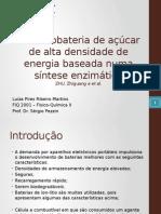 Uma Biobateria de Açúcar de Densidade de Energia