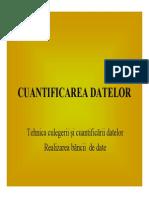 Prelegerea 7. Cuantificarea Datelor