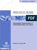 ANSI ISA TR12.13.01 R2005_Flammability Characteristics of Combustible Gases and Vapors