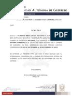 Constancia Oficial de Estudios