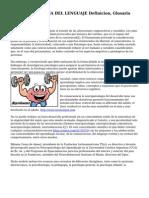 NEUROPSICOLOGIA DEL LENGUAJE Definicion, Glosario