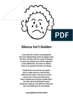 'Silence Isn't Golden'