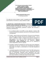 Resolución Rectoral No. 02 Del 17 Febrero 2015