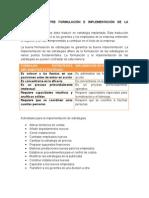 Relacion entre formulacion e implementacion de las estrategias