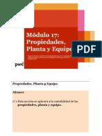 Modulo 17 PROPIEDAD PLANTA Y EQUIPO