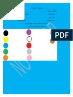 Colores en Ingles Trabajo Grado 6b