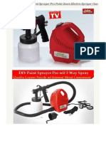 ORIGINAL Quality Paint Sprayer Pro Paint Zoom Electric Sprayer Gun