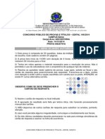 Concurso Historia Prova Objetiva IFMG 2014