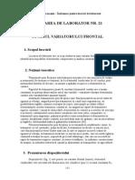ÎNDRUMAR PENTRU LUCRĂRI DE LABORATOR O.M. L21-28.