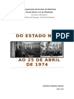 Do Estado Novo Ao 25 de Abril de 1974