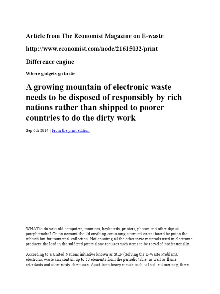 solving the e-waste problem