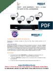 SHIELD SECURITY - MERIVA NVR305KIT - NVR MNVR304  4CH + 4 CAM BULLET  1.3MPX  MFD131PE + ACCESORIOS
