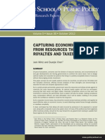 Canada, Capturing Economic Rents From Resources Through Royalties & Taxes