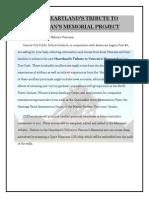 veteran's memorial project