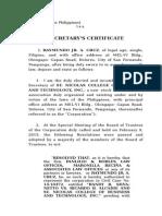 Secretary's Certificate_ Snbt_revised for Indention