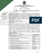Edital Nº 161UFFS2015 - Processo Seletivo Para Ingresso Nos Programas de Residência Médica