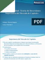 Teoría de inversiones, mercados de capitales
