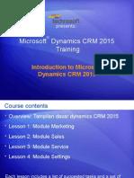 Microsoft® Dynamics CRM 2015