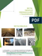 RECTAS PARALELAS, PERPENDICULARES Y TRANSVERSALES