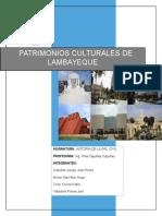 Patrimonios Culturales Del Departamento de Lambayeque