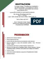Invitación a la Ceremonia de Juramentación CONREDE Tacna 2015.
