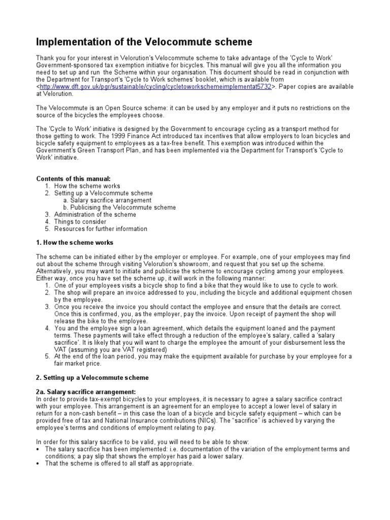 velocommute - employer implementation manual   Employment