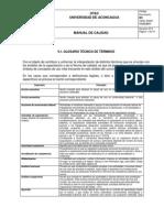 Manual de Calidad Anexo 9.1