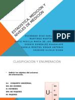 Estadística, Medición y Niveles de Medición