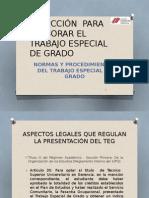 Inducción Para Elaborar El Trabajo Especial de Grado(1).Enero 2014
