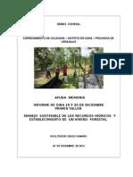 Informe del taller numero 1 manejo sostenible de los recursos hídricos y establecimiento de vivero forestal